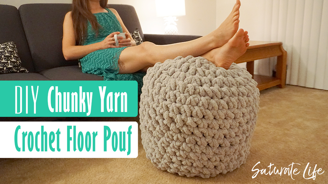 Terrific Diy Giant Crochet Floor Pouf With Chunky Yarn Saturate Life Machost Co Dining Chair Design Ideas Machostcouk